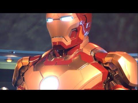 DISNEYLAND IRON MAN 3 STARK EXPO HALL OF ARMOR MARK 42 SUIT April 14, 2013 REVIEW