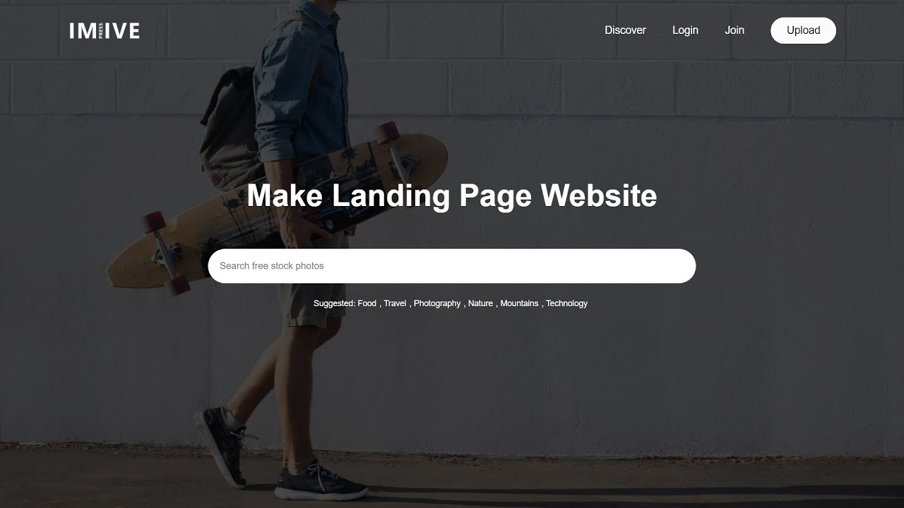 How To Make A Complete Website Design Using HTML And CSS | Photography Website Design