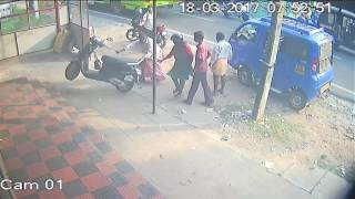 Careless scooter driving lady at valappu malippuram Ernakulam