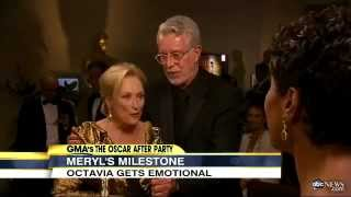 Meryl Streep with Roy Helland Oscars 2012 Interview -