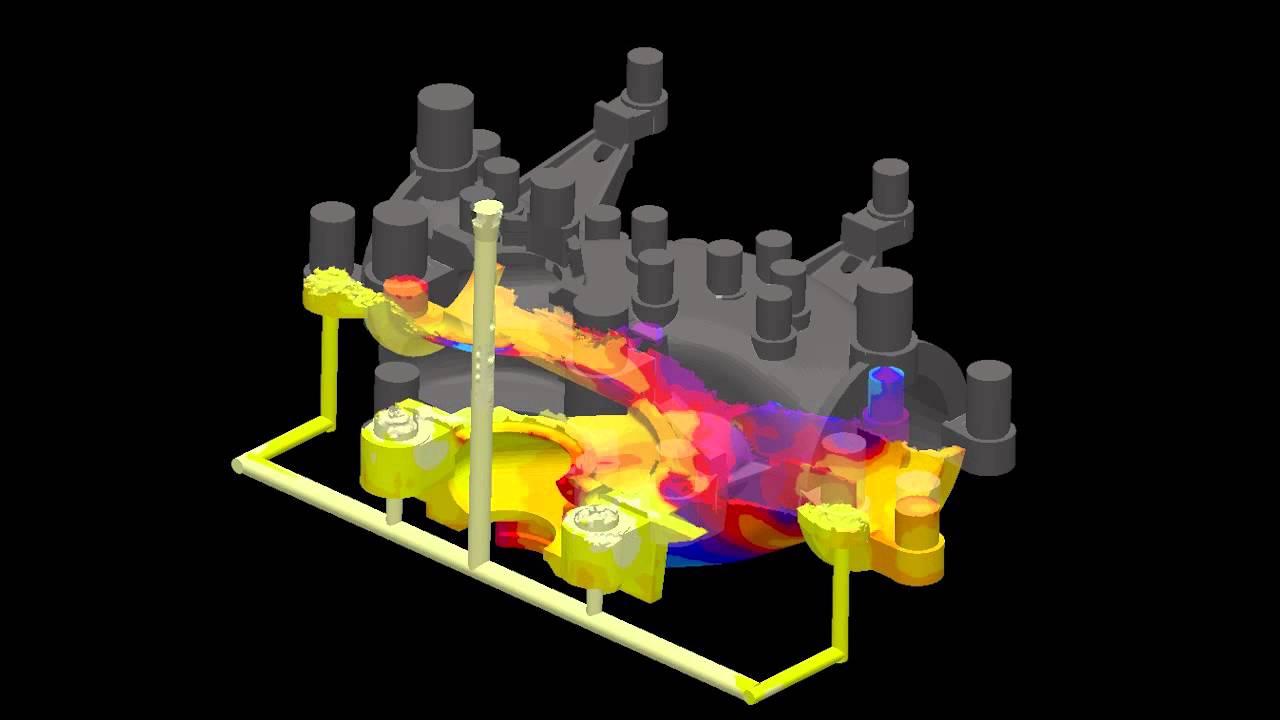 magma flow simulation - temperature