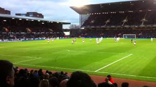 Andy Carroll Goal Crowd Celebration at West Ham 1 Swansea Town 0 Match