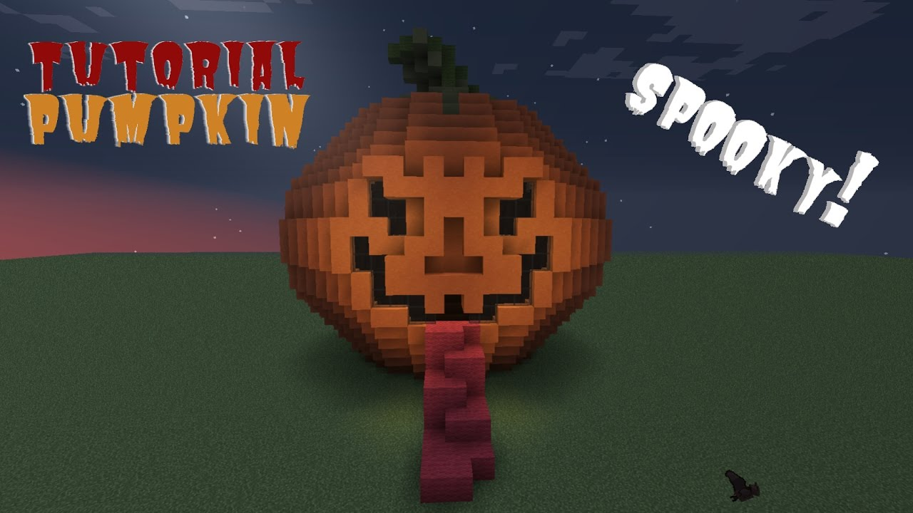 Minecraft How To Build A Scary Pumpkin Tutorial Pc Ps3