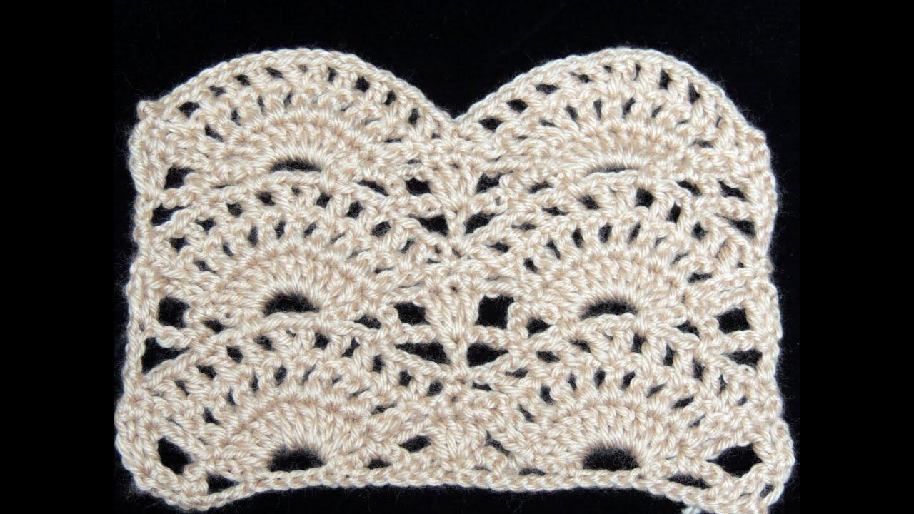 Crochet : Punto Abanico # 2 - YouTube