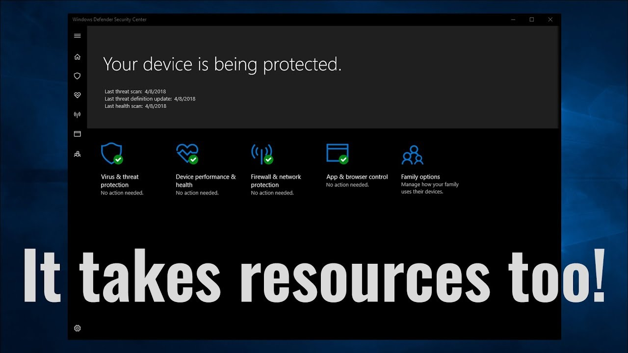 Windows Defender is an Antivirus | It takes resources too