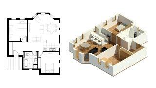 Beginner Revit Tutorial - 2D to 3D Floor Plan (part 2)