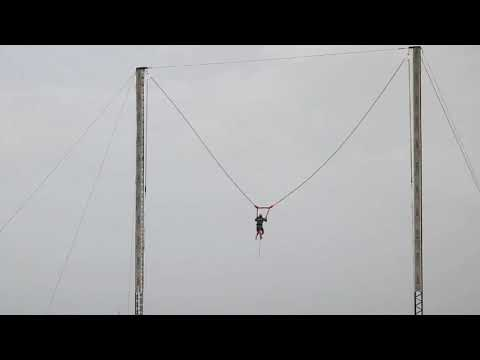 The Fastest Human Slingshot!.Dubai Kite beach.