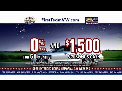 First Team Volkswagen-Huge Memorial Day Tent Event!
