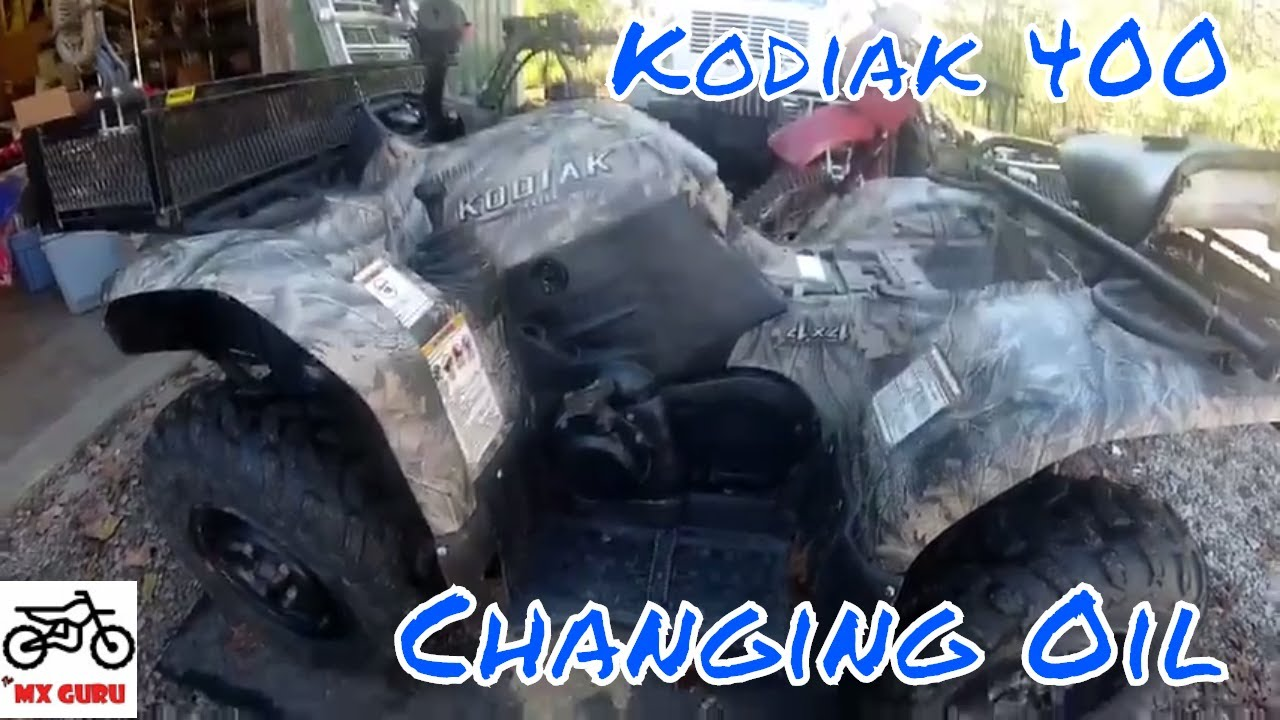 Changing Oil On  Yamaha Kodiak
