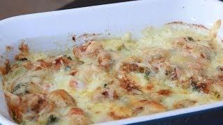 Broccoli, Carrot & Shrimp Gratin Recipe - Recette Gratin Au Brocoli, Carottes & Crevettes