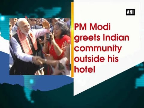 Thumbnail: PM Modi greets Indian community outside his hotel - Netherlands News