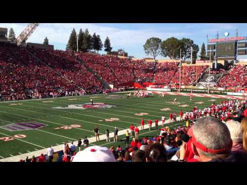 Isaiah Burse scores Touchdown on trick play agains New Mexico Lobos