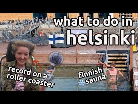 half day in helsinki | first time finnish sauna | finland travel vlog