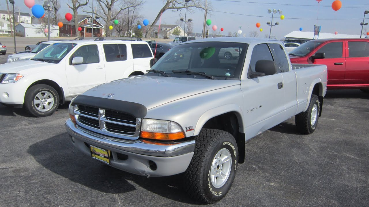 2000 Dodge Dakota Slt 4x4 V8 Full Tour Start Up