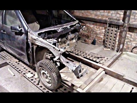 Лада Гранта.Кузовной ремонт после лобового удара.Часть2