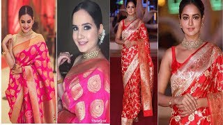 Traditional look for karwa chauth Festival |Traditional Saree look Book