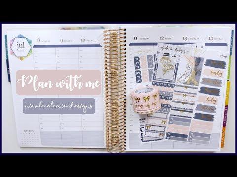 Plan With Me - Moon   Erin Condren Life Planner & Nicole Alexia Designs   Romina Vasquez
