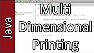 Printing Multidimensional Arrays - Java Programming Tutorial #32 (PC / Mac 2015)