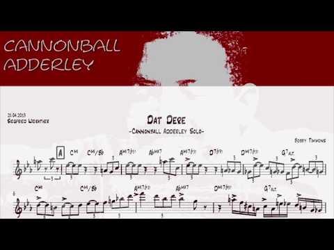 Dat Dere - Cannonball Adderley Solo Transcription