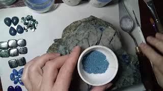 Как получают краску азурита и малахита