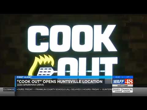 New Fast Food Restaurant: Cook Out Opens Huntsville