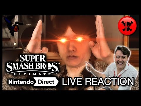 FULL LIVE REACTION to Super Smash Bros. Ultimate Direct 8.8.18 | RogersBase Smash Direct Reaction