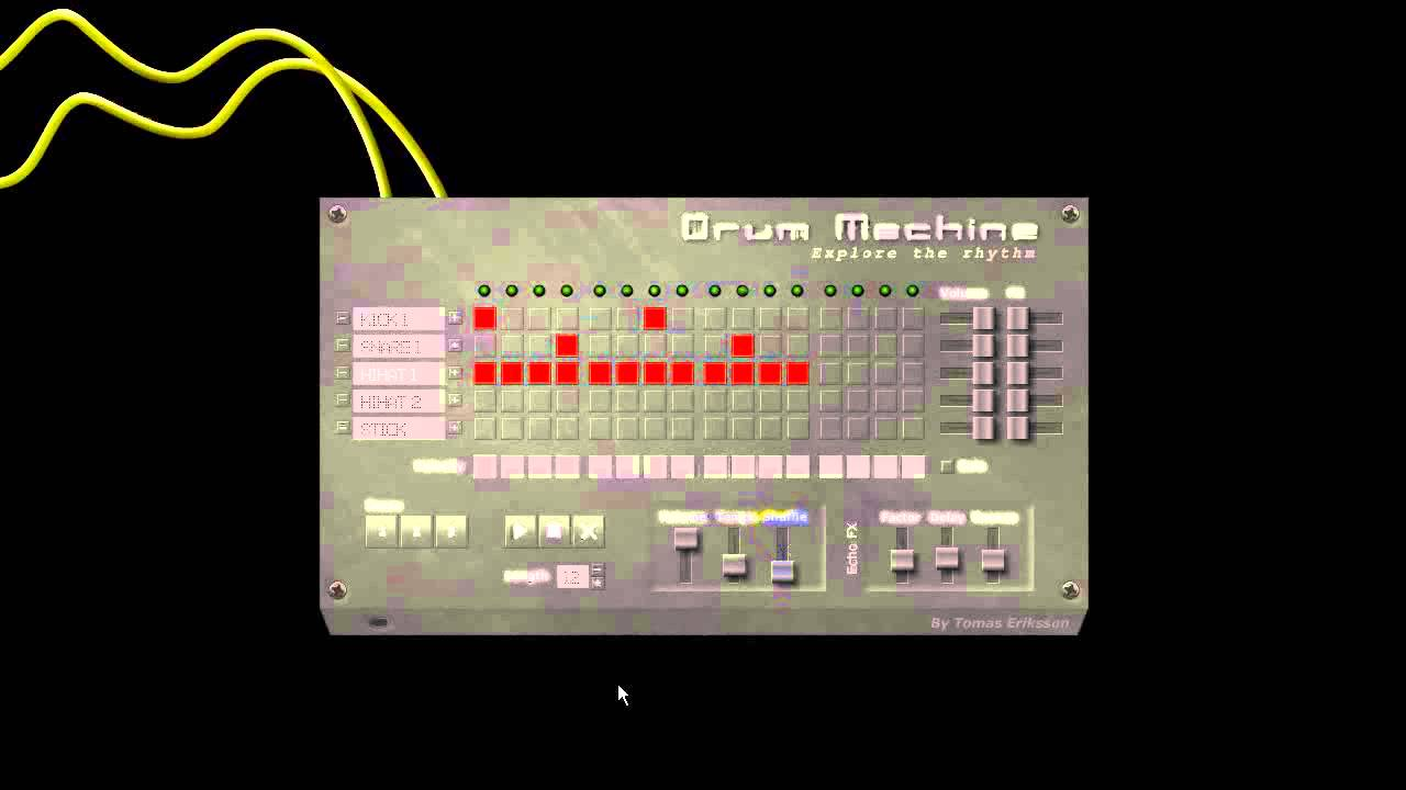 one motion drum machine tutoriel youtube. Black Bedroom Furniture Sets. Home Design Ideas