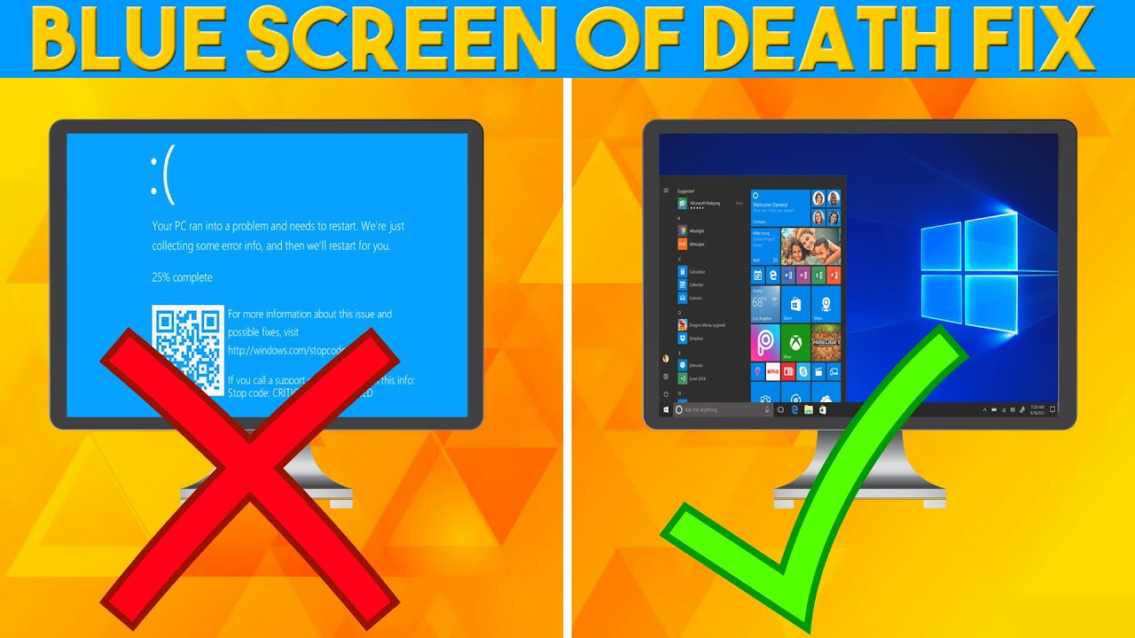Best Tutorial Fix Any Blue Screen Of Death (BSOD) - YouTube