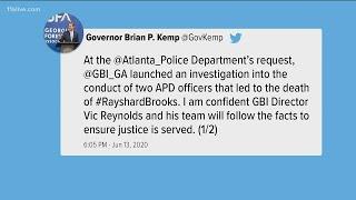 Georgia Governor Kemp responds to police shooting in Atlanta