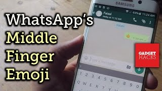 Use the Middle Finger Emoji on WhatsApp [How-To]