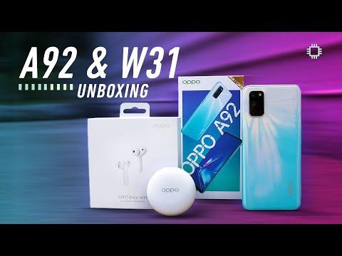 OPPO A92 Unboxing ft. OPPO Enco W31!