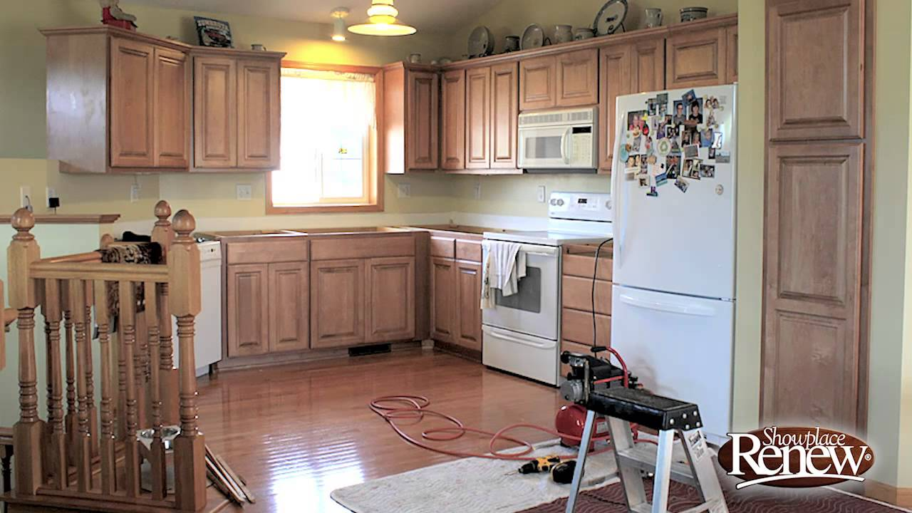 Renew Kitchen Cabinets Design How To Remodel A Full In 2 1 Days With Cabinet Refacing Youtube