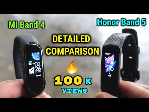 MI Band 4 vs Honor Band 5 | DETAILED COMPARISON | INDIAN UNIT