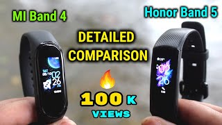 MI Band 4 vs Honor Band 5 | DETAILED COMPARISON | INDIAN UNIT