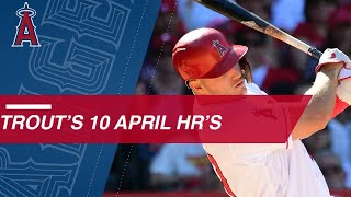 Mike Trout belts his league-leading 10th home run