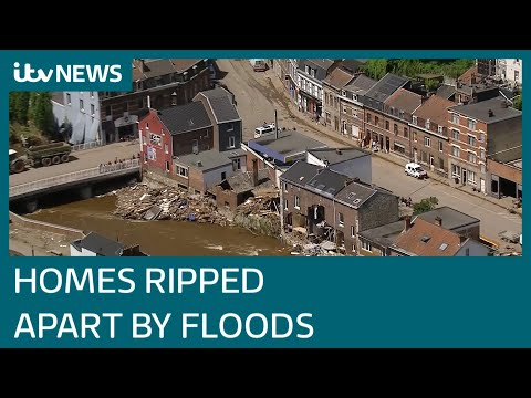 Damaged homes and debris-lined streets after Belgium and Germany floods leave 190 dead | ITV News