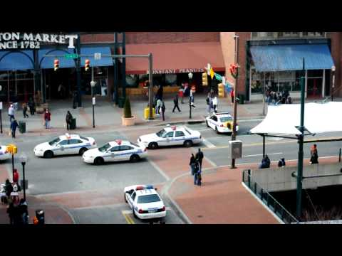 Just a normal day near the lexington market in baltimore maryland