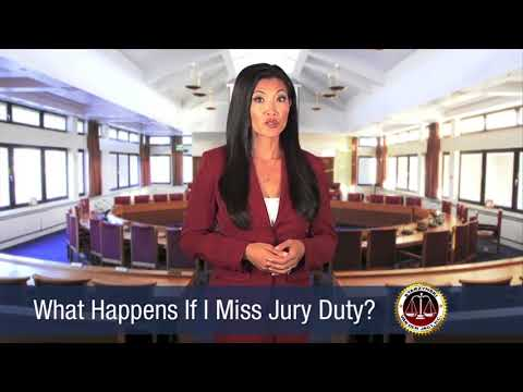 VDJLAW What happens if you miss jury service (Criminal Law)