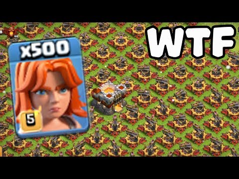 Thumbnail: 500 Max Valkyrie VS 500 Max X-Bow Attack GamePlay | COC Funny Attack