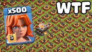 500 Max Valkyrie VS 500 Max X-Bow Attack GamePlay | COC Funny Attack