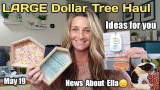 LARGE Dollar Tree Haul 🎉 DIY Ideas❣ Sad News on Ella😞