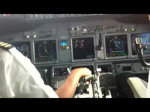 Cockpit View - Malaysia Airlines (Boeing 737) Approaching runway & Landing at KLIA