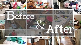 NEW/ REAL LIFE MESS CLEAN WITH ME/BEFORE AND AFTER/CLEANING MOTIVATION/COMPLETE DISASTER/WHOLE HOUSE