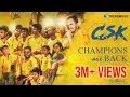 #CSKReturns Anthem | #CSK | #IPL2018 | Karthik Rajan |  Avighna  Productions | TrendMusic