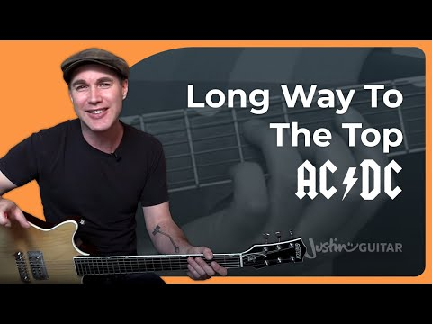 Long Way To The Top - AC/DC - Rock Guitar Lesson (BS-922) Angus, Malcolm