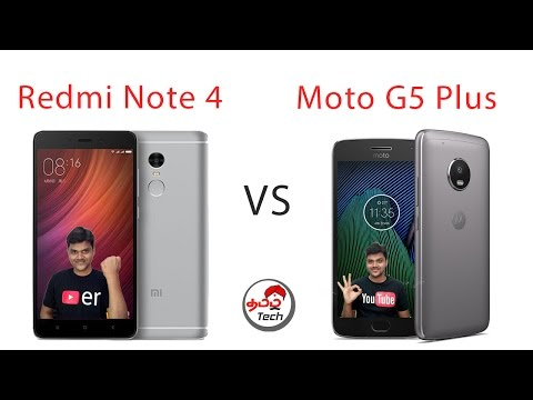 Redmi note 4 Vs Moto G5 Plus - Best Mobile ? with Camera Samples | Tamil Tech