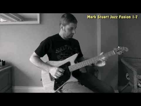 Mark Stuart jamming with a Jazz Fusion backing track from CBG