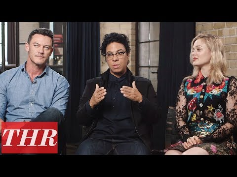 Luke Evans & Bella Heathcote Discuss Polyamory in 'Professor Marston & the Wonder Women'  TIFF 2017