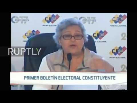 Venezuela: 41.5% turnout in Venezuela's Constituent Assembly elections - National Electoral Council