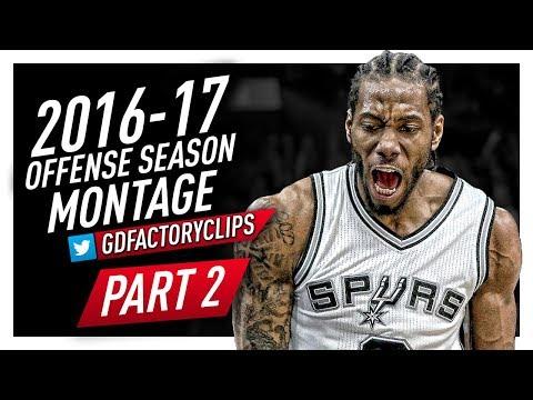 Kawhi Leonard Offense Highlights Montage 2016/2017 (Part 2) - MVP MODE!